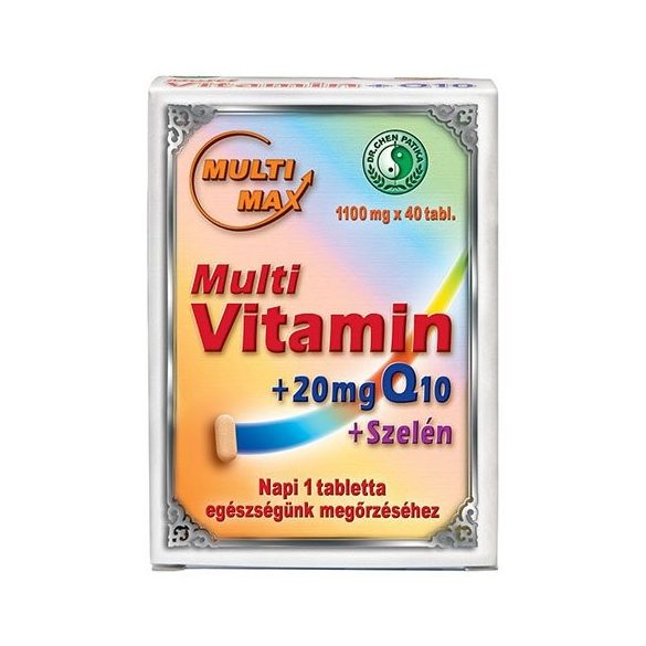 Dr.chen multimax vitamin+q10+szelén tabletta 40 db