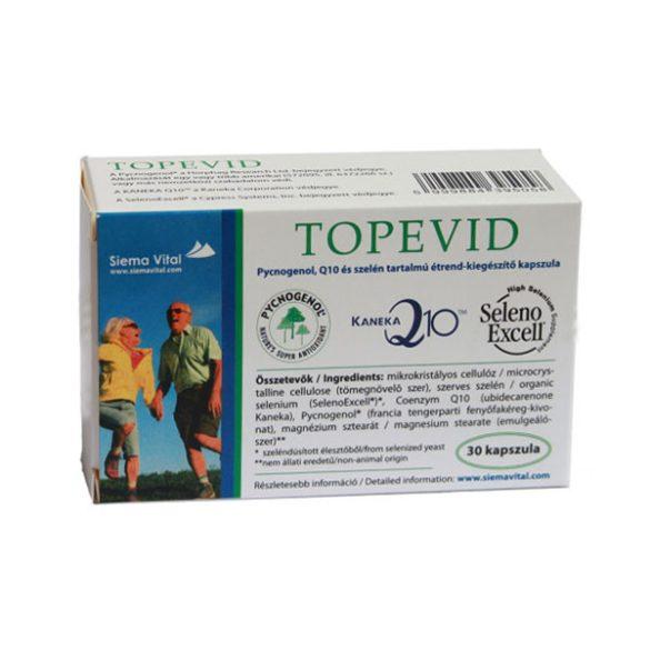 Topevid pycnogenol, q10 és szelén tartalmú tabletta 30 db