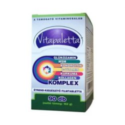 Vitapaletta glükózamin, msm, kondroitin, c-vitamin, kurkuma, kollagén komplex kapszula 90 db