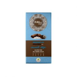 Health market paleo milkless delight csokoládé kókusztejes, kókuszchipsszel édesítőszerrel 80 g