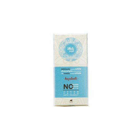 Health market paleo white delight fehér tábla mogyoróval 80 g