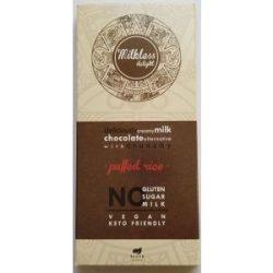Health market paleo milkless delight csokoládé puffasztott rizzsel 80 g