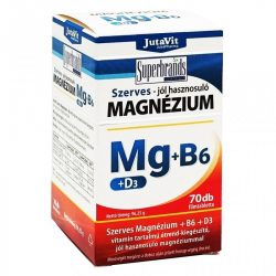 Jutavit szerves magnézium b6+d3 vitamin kapszula 70 db