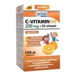 Jutavit c-vitamin kid 200 mg+d3 kapszula 100 db