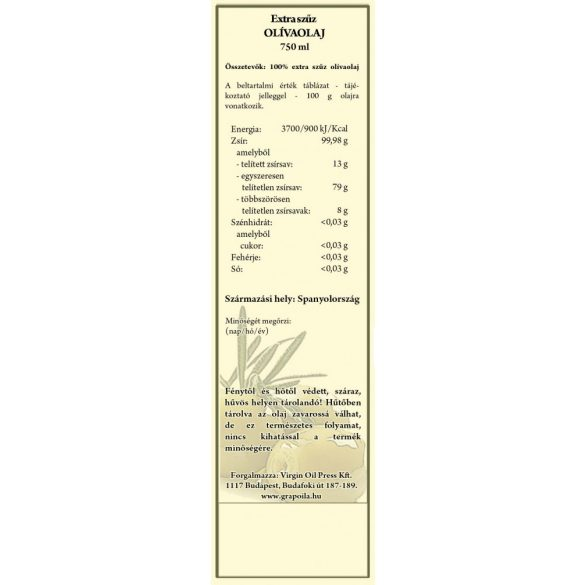 Grapoila extra szűz olívaolaj 750ml