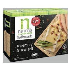 Nairns gluténmentes teljeskiőrlésű 75% rostban gazdag zab lapkenyér rozmaring&tengeri só 150 g