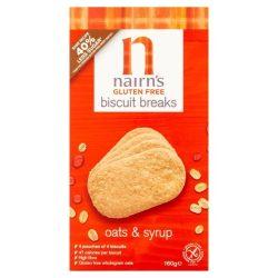 Nairns gluténmentes teljeskiőrlésű 72% rostdús édes zabkeksz 160 g