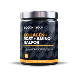Biocom Kollagén+Rost+Amino Italpor mangó ízű 450 gramm