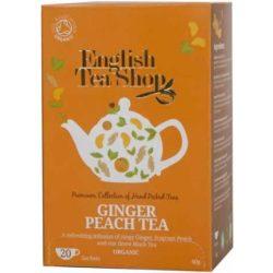Ets bio gyömbéres barack tea 20x2g 40 g