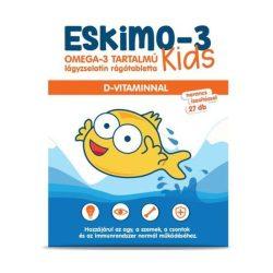 Eskimo-3 kids omega-3 rágótabletta narancs ízesítésű 27 db