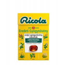 Ricola Cukor Eredeti Gyógynövény Cm. 40 g