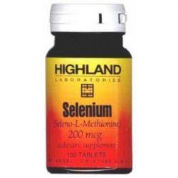 Highland selenium tabletta 100 db