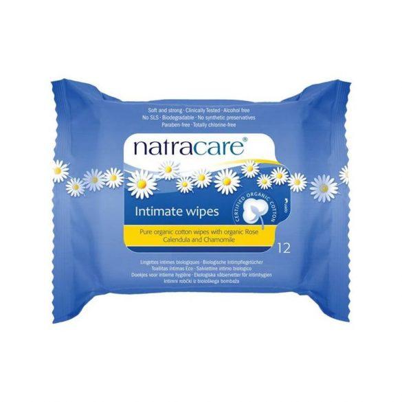 Natracare bio női intim törlőkendő 12 db