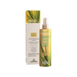 Specchiasol® Verattiva® 50 faktoros Napozó spray - gyerekek, felnőttek, érzékeny bőrűek. Vegyi anyag mentes.