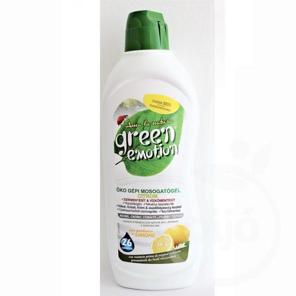 Green Emotion öko gépi mosogatógél citromos 650 ml