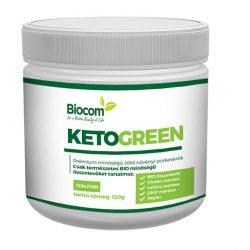 Biocom KetoGreen növényi por tégelyes 120 gr