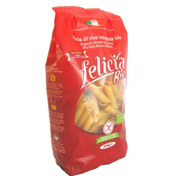 Felicia bio gluténmentes barnarizs penne tészta 250 g