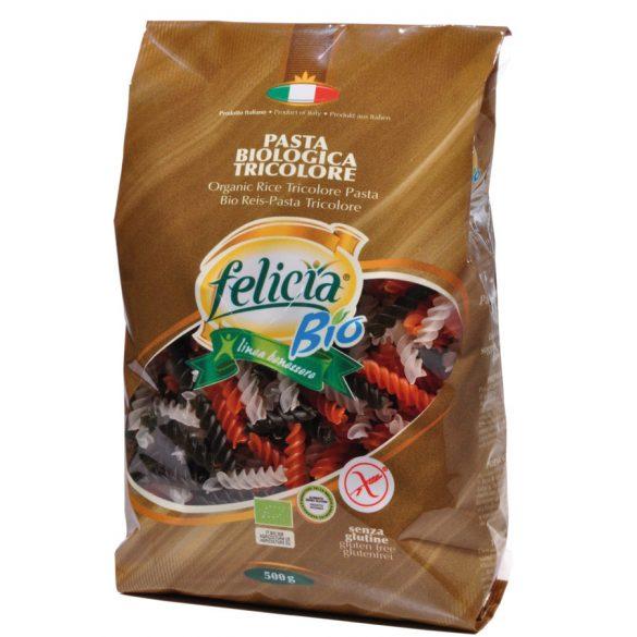 Felicia Bio Rizs fusilli trikolor gluténmentes tészta 500 g