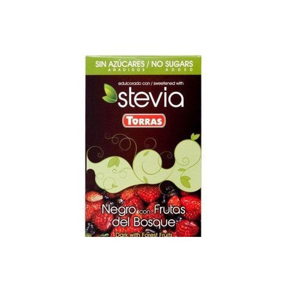 Torras gluténmentes étcsokoládé erdei gyümölcs steviával 125 g