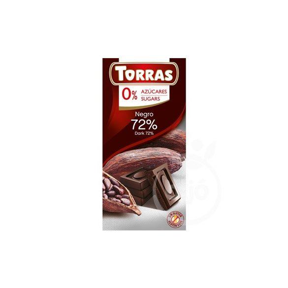 Torras gluténmentes étcsokoládé kakaóbabtörettel hozzáadott 75 g