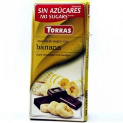 Torras gluténmentes étcsokoládé banán cukor nélkül 75 g