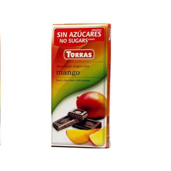 Torras glutén-és cukormentes étcsokoládé mangó 75 g