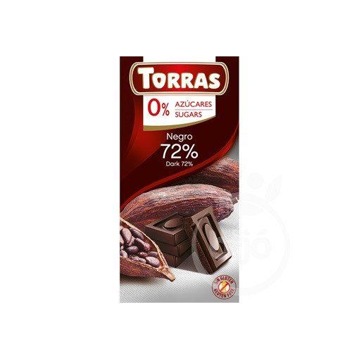TORRAS ÉTCSOKOLÁDÉ 72% CM.GM. 75 g