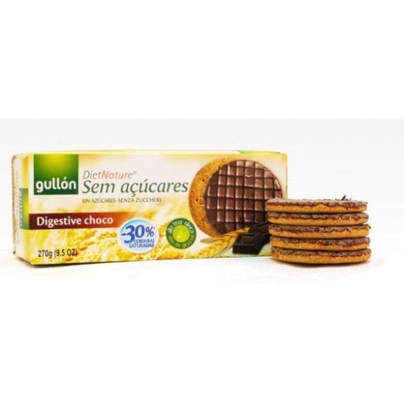 Gullón korpás keksz étcsoki bevonattal,édesítőszerrel 270 g