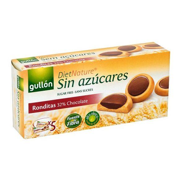 Gullón ronditas keksz étcsokoládéval töltött,édesítőszerrel 186 g