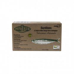 Szardínia bio extraszűz oliva olajban dobozban 120 g