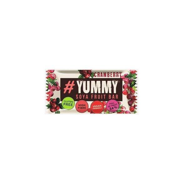 Yummi gluténmentes mogyorós szelet vörösáfonyával 40 g