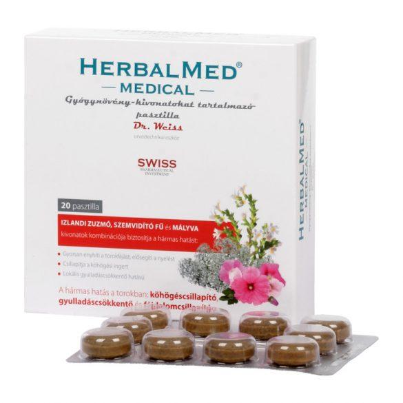 Herbalmed medical torokfertőtlenítő pasztilla 40 db
