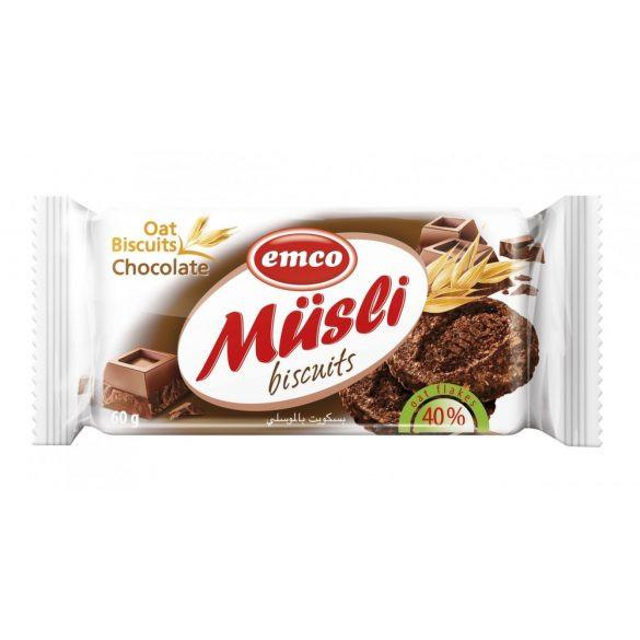 Emco müzli keksz csokoládával 60 g