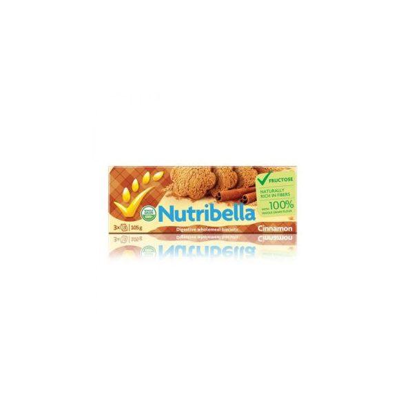 Nutribella keksz fruktózzal fahéjas 105 g