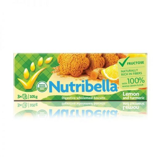 NUTRIBELLA KEKSZ FRUKTÓZZAL CITROMOS 105 g
