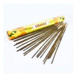 Füstölő tulasi hosszú orange 8 db
