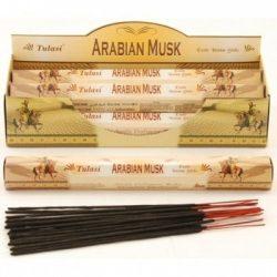 Füstölő tulasi hatszög arabian musk 20 db