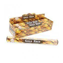 Füstölő tulasi hatszög gold rain 20 db
