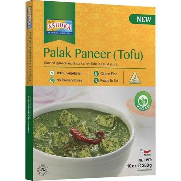 Ashoka palak paneer indiai spenótcurry friss tofuval közepesen fűszeres szószban 280 g