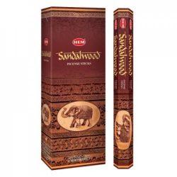 Füstölő hem hatszög sandalwood/szantálfa 20 db