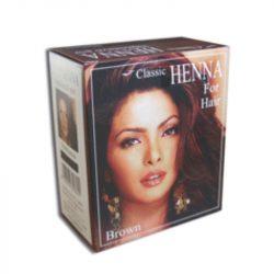 Classic Henna hajszínező por sötétbarna 100 g