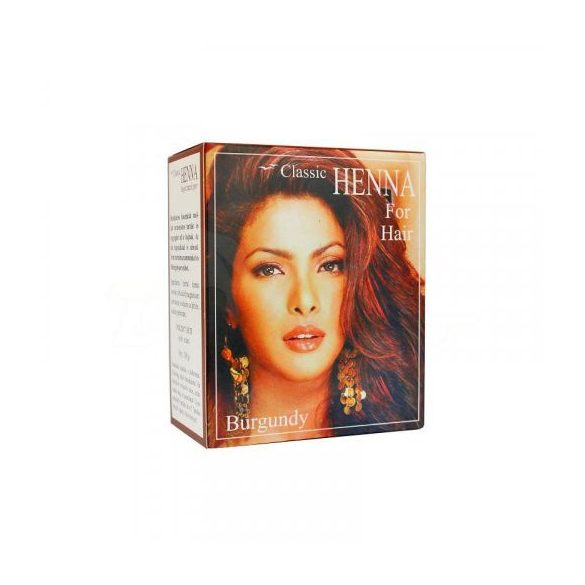 Classic Henna hajszínező por burgundi vörös 100 g