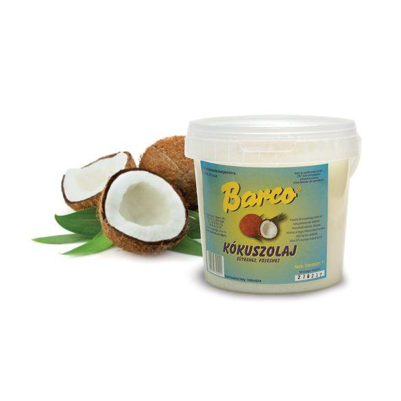 Barco kókuszolaj sütéshez főzéshez vödörben 1000 ml