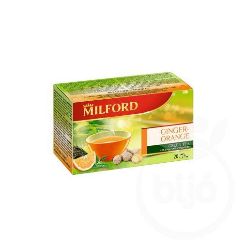 Milford gyömbér-narancs ízü zöld tea 35 g