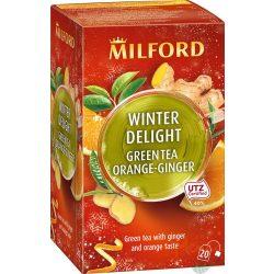 Milford winter delight zöld tea gyömbér-narancs 20x1,75g