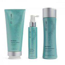 Nu Skin ageLOC Nutriol Scalp & Hair System fejbőr- és hajápoló rendszer 200 ML (SAMPON), 175 ML (KONDICIONÁLÓ) ÉS 75 ML (SZÉRUM